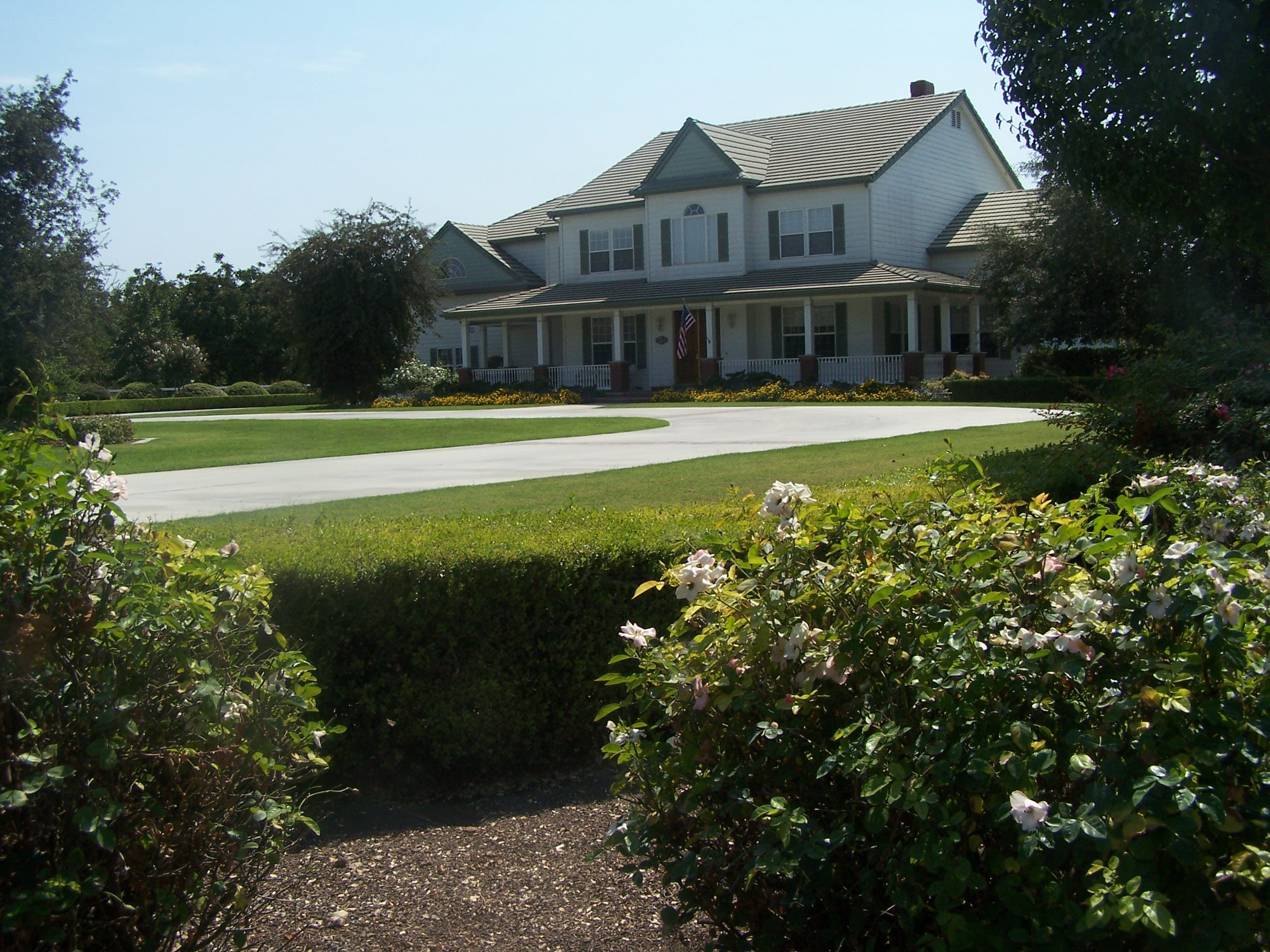 Manicured Landscape for Country Home