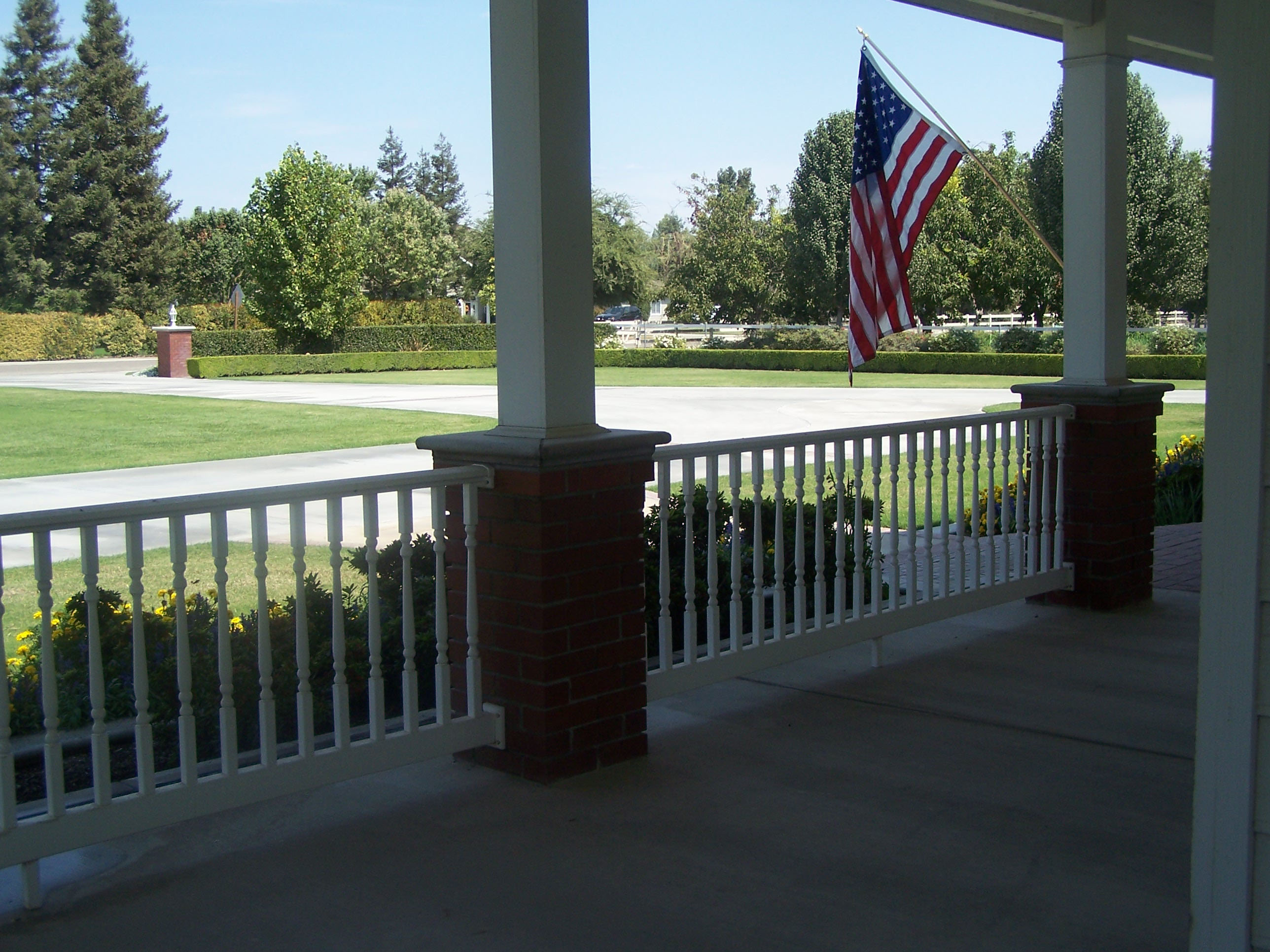 View of Formal Lawn from Porch