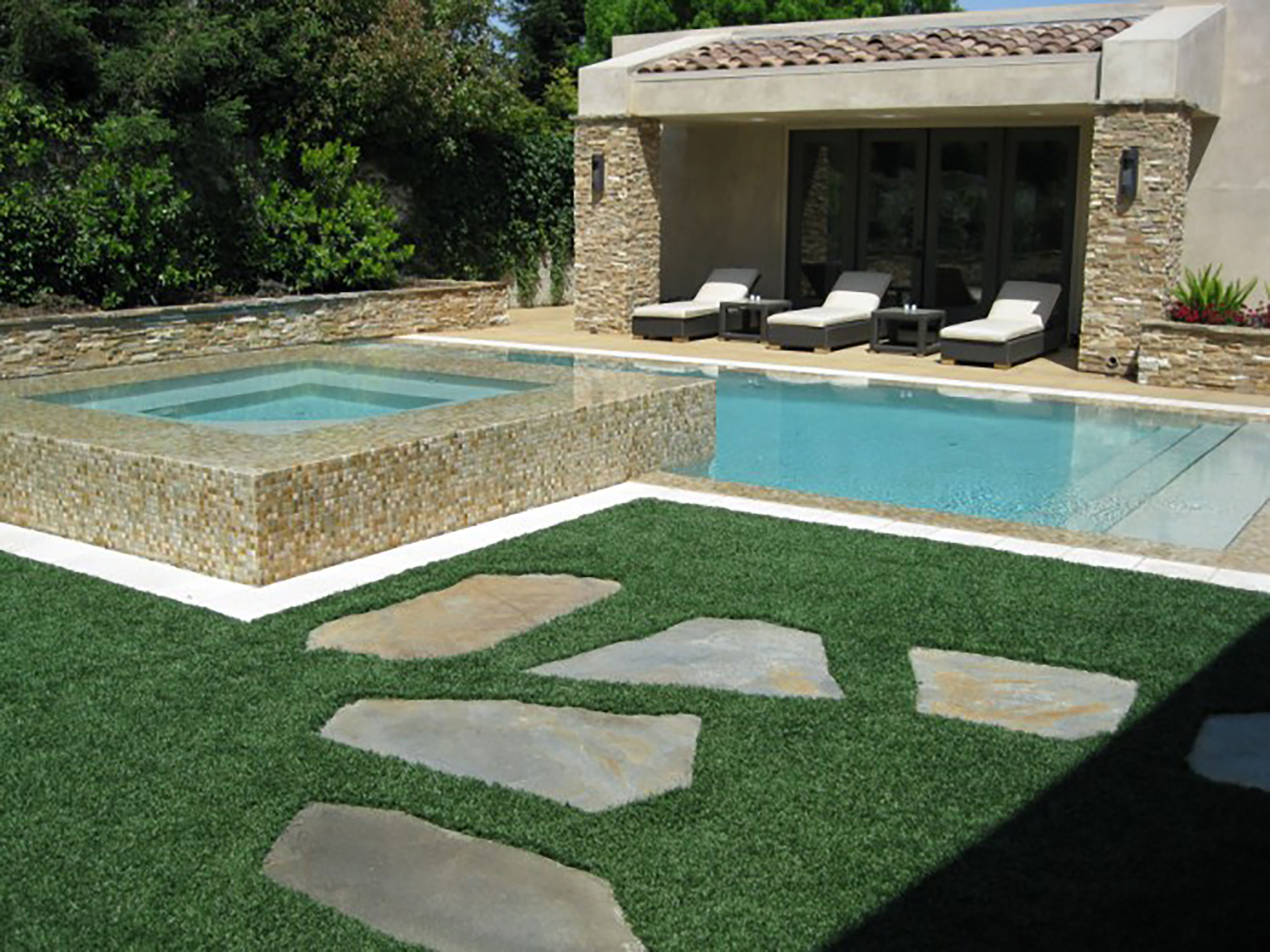 Contemporary Landscape with Pool