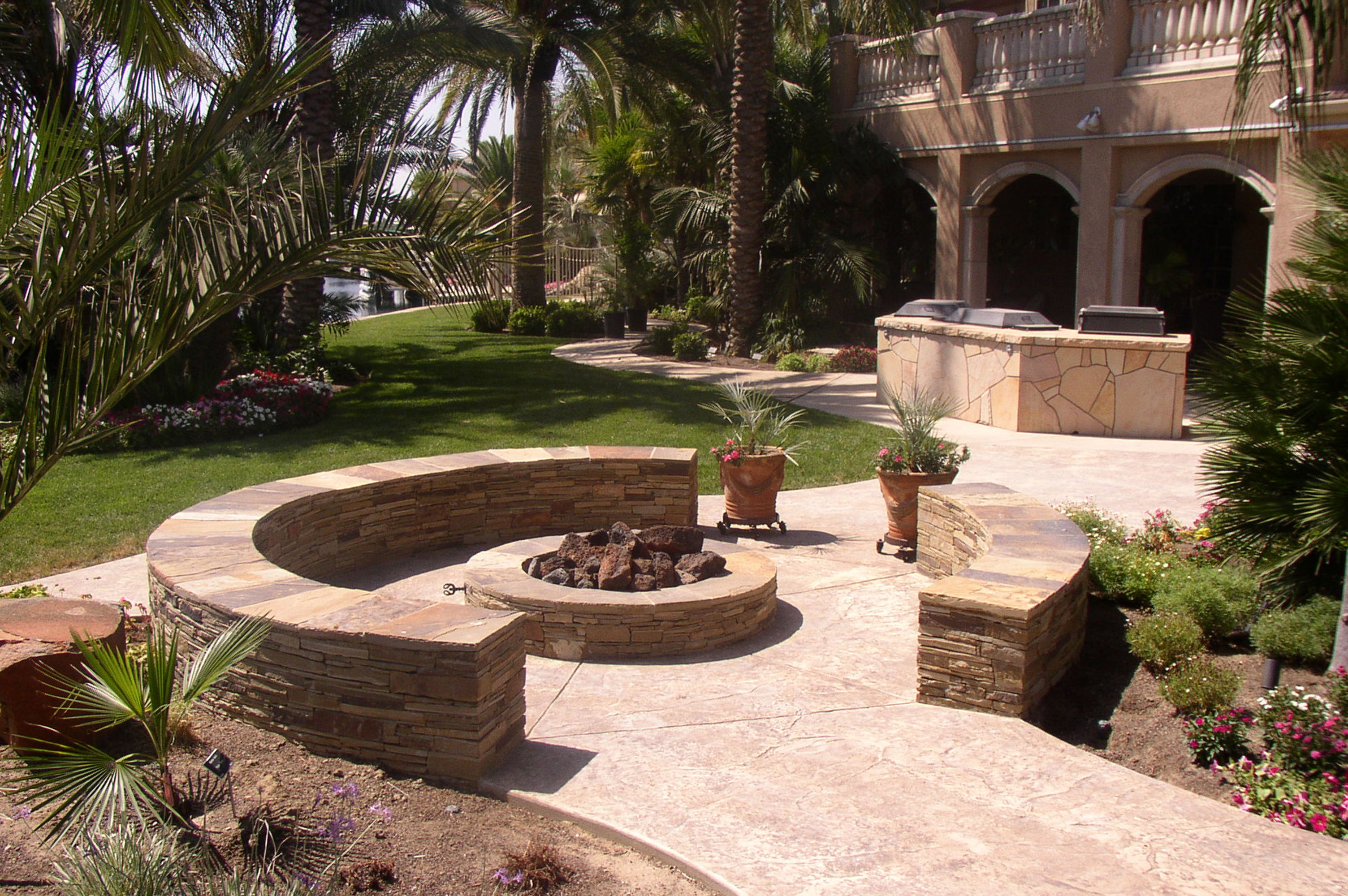Custom Outdoor Feature: Fire Pit