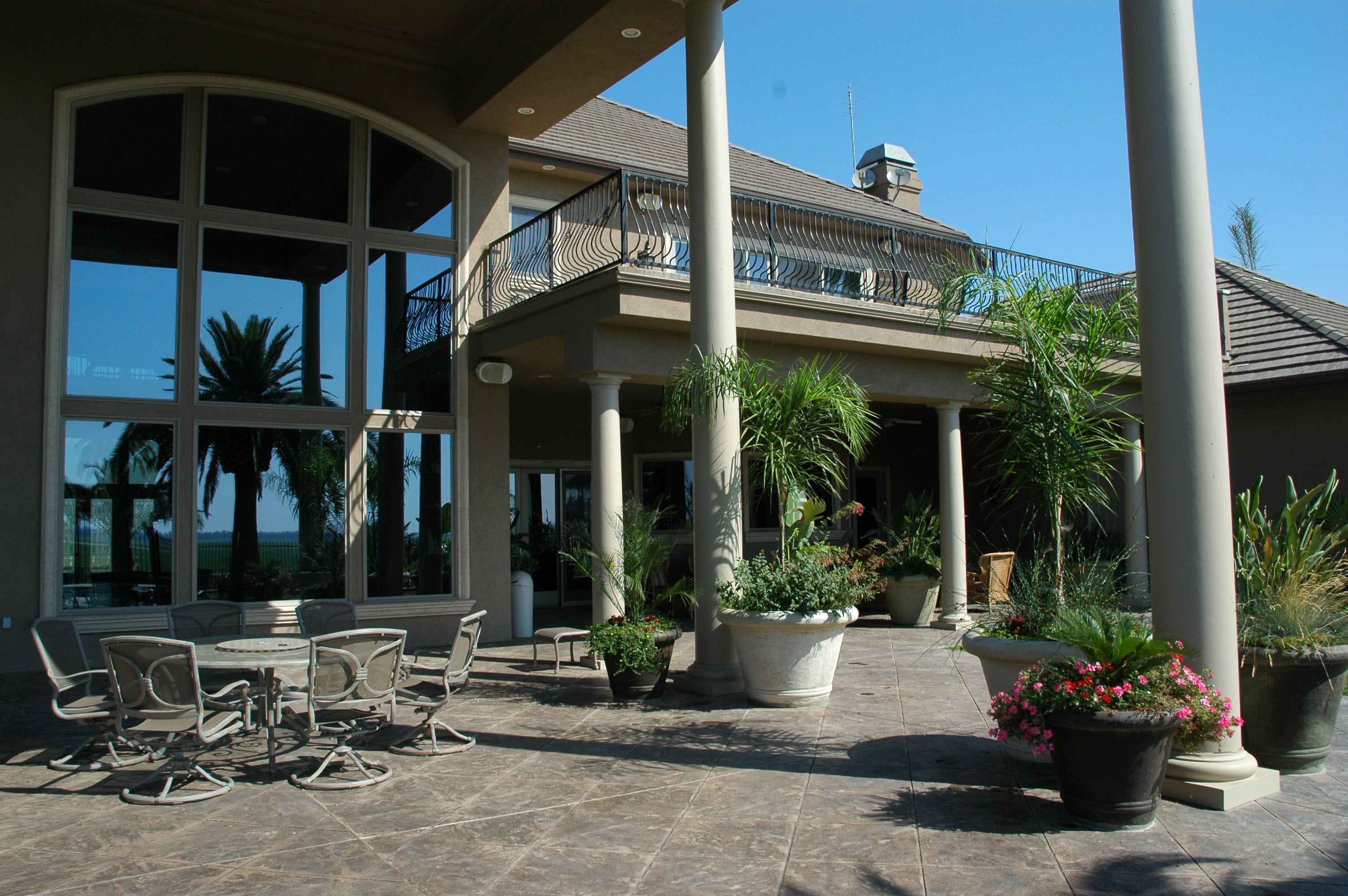 Grand Patio with Planters