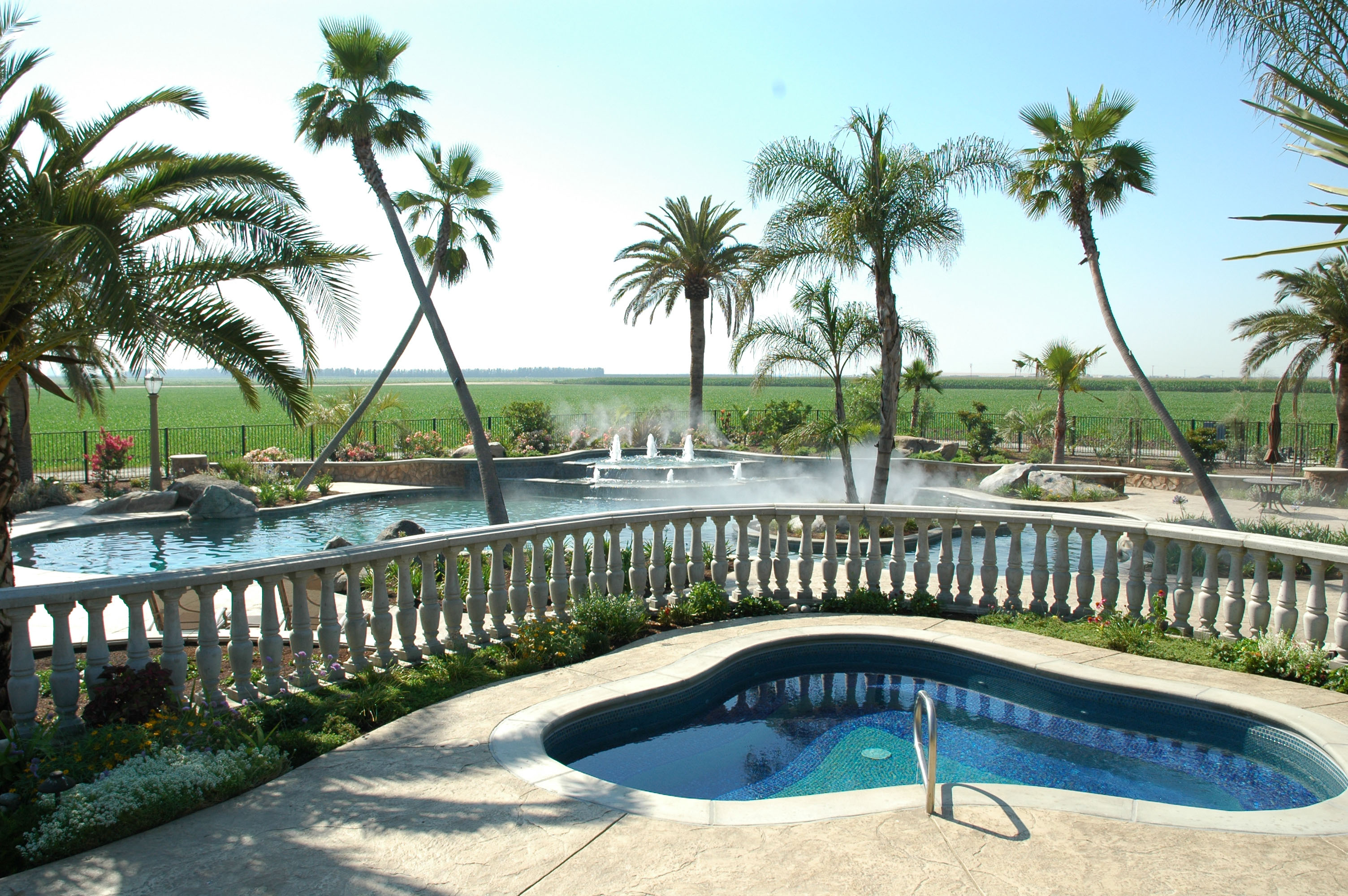 Swaying Palms with Pool and Spa