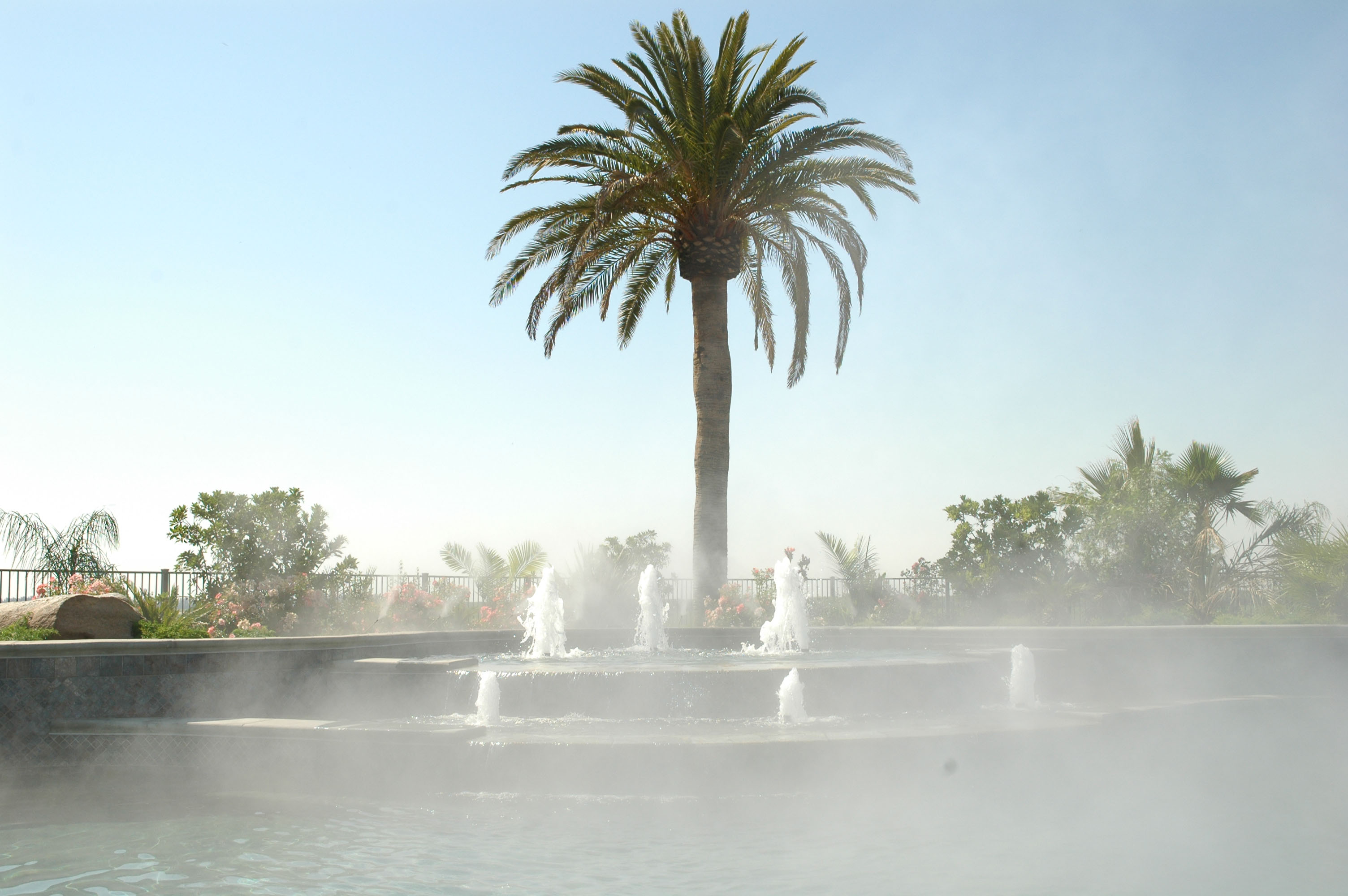 Misty Fountain in Pool